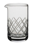 20 1/2 oz Diamond Cut Mixing Beaker (case of 12)