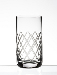 DIAMOND CUT HIGHBALL 13 1/4 OZ GLASS - (case of 24)