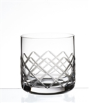 DIAMOND CUT OLD FASHIONED 12.5 OZ GLASS - (case of 24)