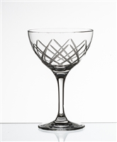 DIAMOND CUT MARTINI/COCKTAIL 8 OZ GLASS - (case of 24)