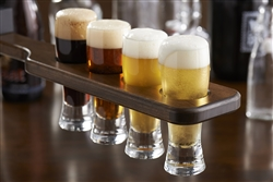 Beer Flight Paddle & Tasting Glasses